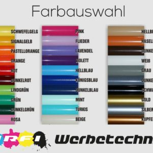 Farbpalette Aufkleber Folie Oracal 3M Avery Hexis Ritrama