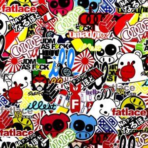 Stickerbomb JDM / GRAFFITI