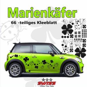 Marienkäfer & Kleeblätter Set